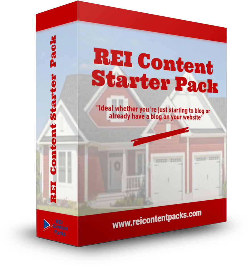Get more motivated seller leads with the REI Content Starter Pack Pre-written real estate investor blog posts